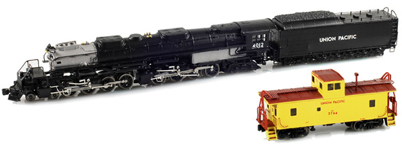 Big Boy Set With Brass Caboose