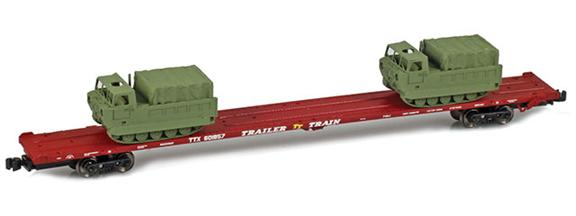 RTTX 89' Flat Cars with M548 Tracked Cargo Carrier