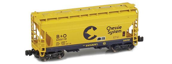 Chessie (B&O / C&O) ACF 2-Bay Hoppers