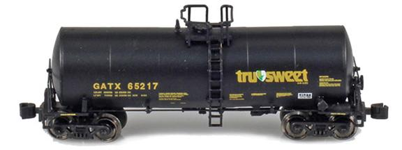GATX corn syrup cars with Tru-Sweet logo