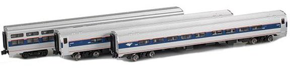 72075-1 Amtrak AmFleet II 3-pack
