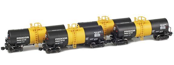 17,600 Gallon Tank Cars | Procor | Molten Sulphur