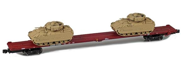 89' Flat Cars with M2A2s