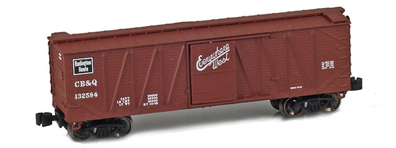 40' Outside Braced Boxcar – CB&Q