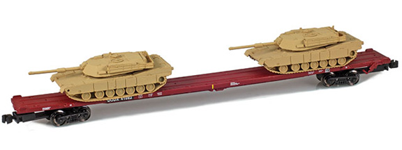 911023-3S DODX 89' Flat 41082 2x M1 Loads | Sand