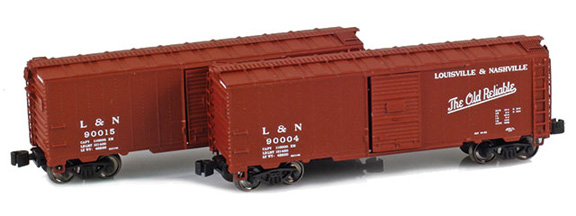 904377-1 L&N 1937 40´ AAR Box Car 90004, 90015