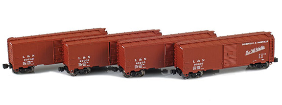 914307-1 L&N 1937 40´ AAR Box Car 90002, 90007, 90233, 90240