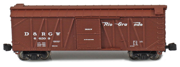 40' Outside braced boxcar – Denver & Rio Grande