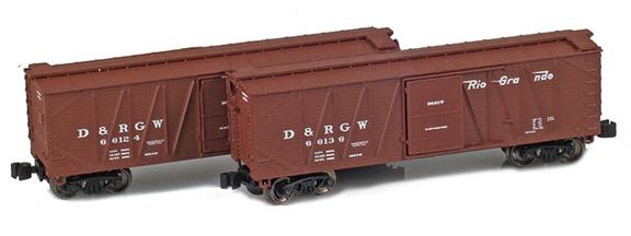 40' Outside braced boxcar – Denver & Rio Grande