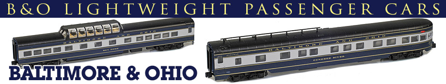 Baltimore & Ohio Lightweight Cars